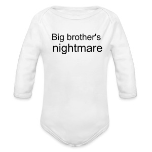big brother's nightmare - Long Sleeve Baby Bodysuit