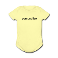 Baby Bodysuits ~ Baby Short Sleeve One Piece ~ Personalize for Free