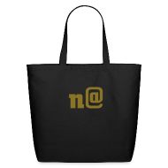 Bags & backpacks ~ Eco-Friendly Cotton Tote ~ n@ Large Tote Bag - Gold