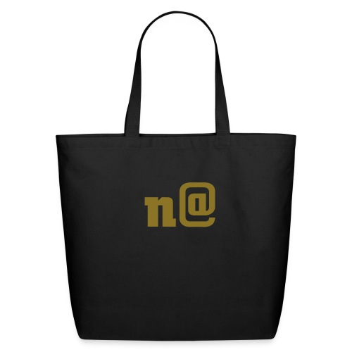 n@ Large Tote Bag - Gold - Eco-Friendly Cotton Tote