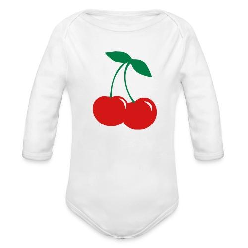 Cherry Onsie - Organic Long Sleeve Baby Bodysuit
