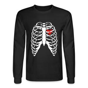 Men's Long Sleeve Tee w/ Skeleton Heart - Men's Long Sleeve T-Shirt