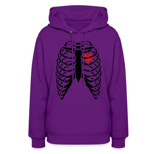 Women's Hoodie w/ Skeleton Heart - Women's Hoodie
