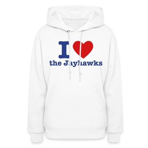I Heart the Jayhawks Women's Hooded Sweatshirt - Women's Hoodie