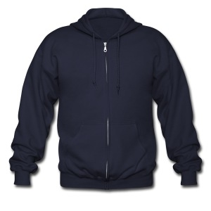plain shirt - Men's Zip Hoodie