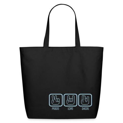 Cotton Tote Bag - Peace, Love, Shock - Eco-Friendly Cotton Tote