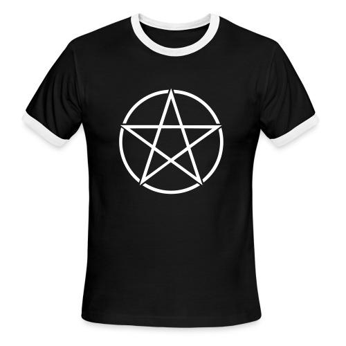Men's Pentacle Ringer Tee - Men's Ringer T-Shirt