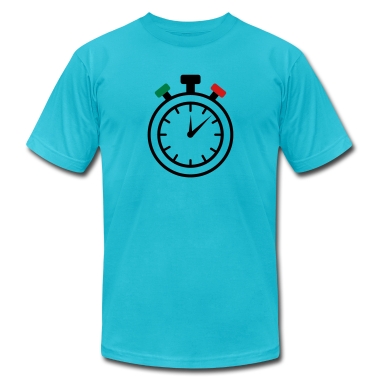 Turquoise stop watch T-Shirts
