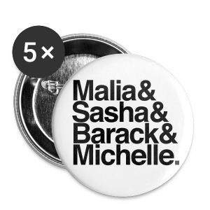 Obamas Buttons - Large Buttons