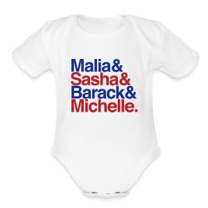 Obamas One size - Patriotic - Short Sleeve Baby Bodysuit