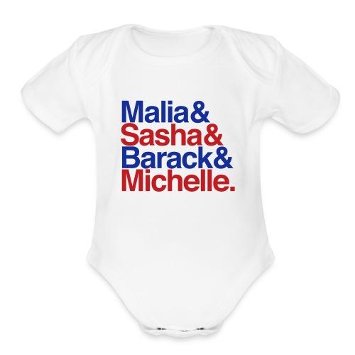 Obamas One size - Patriotic - Organic Short Sleeve Baby Bodysuit