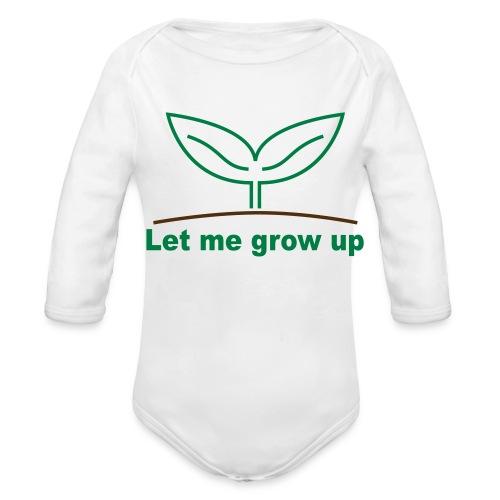 let me grow - Organic Long Sleeve Baby Bodysuit