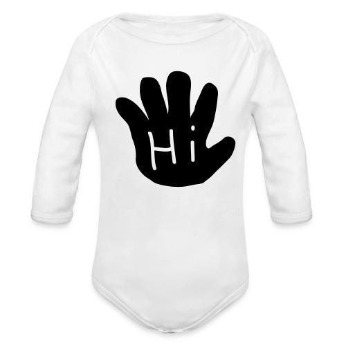 hi-bye - Organic Long Sleeve Baby Bodysuit