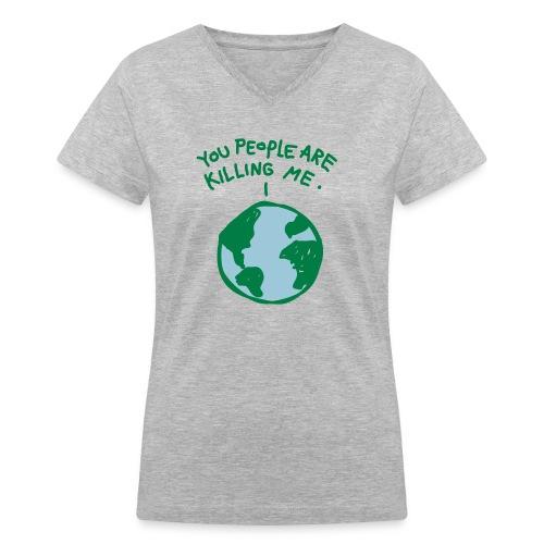 Earth Women's - Women's V-Neck T-Shirt