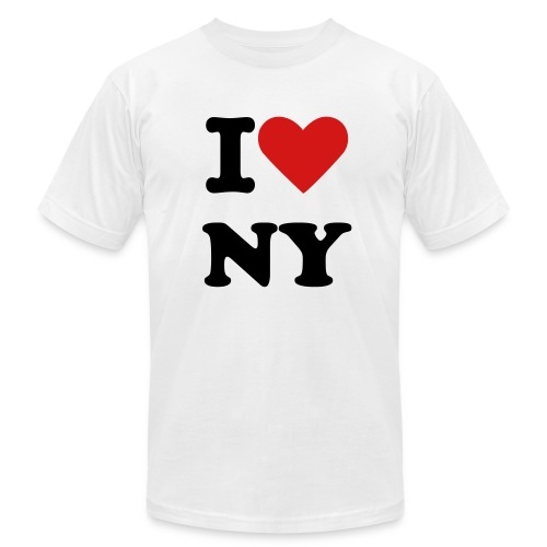 I Love NY - Men's Fine Jersey T-Shirt