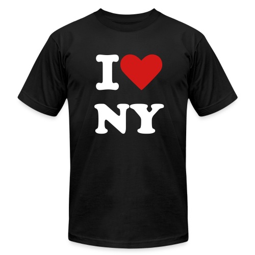 I Love NY (Black) - Men's Fine Jersey T-Shirt