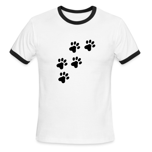 pawprints - Men's Ringer T-Shirt