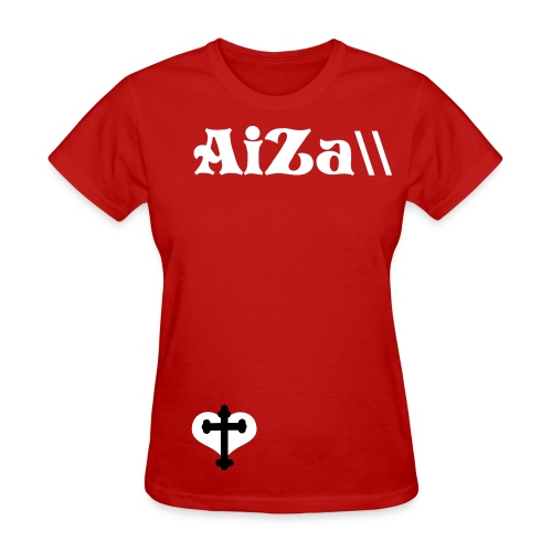Heart Cross Girl's T - Women's T-Shirt