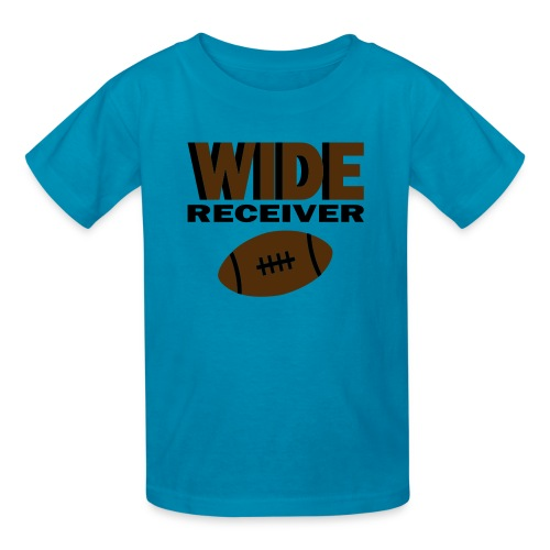 Kool Kids Tees 'Wide Receiver With Football' Kids' Tee in Orange - Kids' T-Shirt