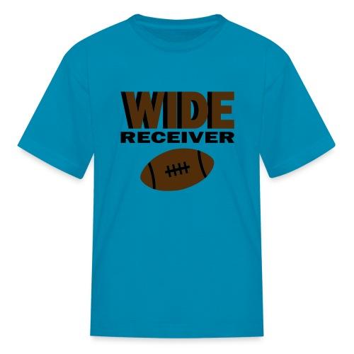 Kool Kids Tees 'Wide Receiver With Football' Kids' Tee in Orange - Kids' T-Shirt