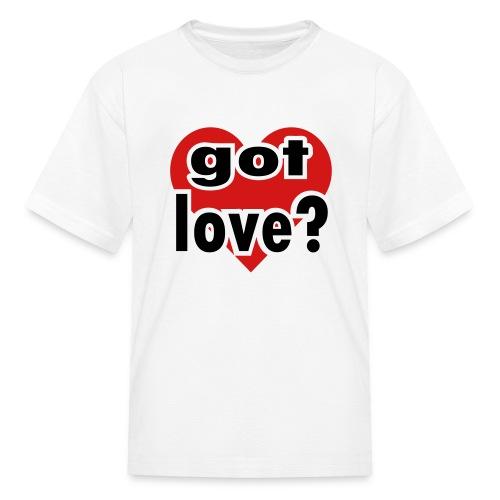 Kool Kids Tees 'Got Love With Big Heart' Kids' Tee in White - Kids' T-Shirt
