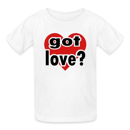 Kool Kids Tees 'Got Love With Big Heart' Kids' Tee in White - Kids' T-Shirt