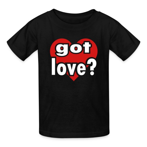 Kool Kids Tees 'Got Love With Big Heart' Kids' Tee in Black - Kids' T-Shirt