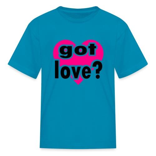 Kool Kids Tees 'Got Love With Big Heart' Kids' Tee in Light Pink - Kids' T-Shirt