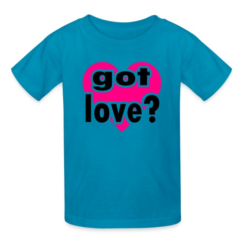 Kool Kids Tees 'Got Love With Big Heart' Kids' Tee in Light Pink - Kids' T-Shirt