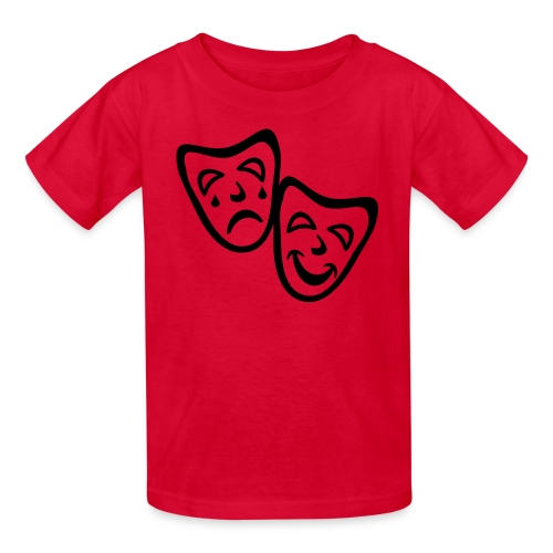 Kool Kids Tees 'Comedy Drama Masks' Kids' Tee in Red - Kids' T-Shirt