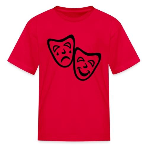 Kool Kids Tees 'Comedy Drama Masks' Kids' Tee in Red - Kids' T-Shirt