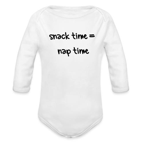 snack time - Organic Long Sleeve Baby Bodysuit