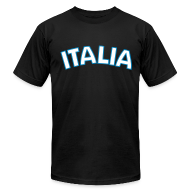 T-Shirts ~ Men's T-Shirt by American Apparel ~ ITALIA logo AA T, Black