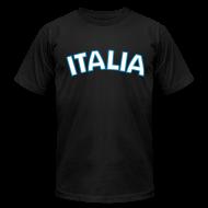 T-Shirts ~ Men's T-Shirt by American Apparel ~ ITALIA logo AA T, Black