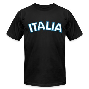 ITALIA logo AA T, Black - Men's T-Shirt by American Apparel