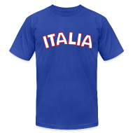 T-Shirts ~ Men's T-Shirt by American Apparel ~ ITALIA logo AA T, Royal Blue