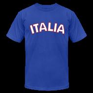 T-Shirts ~ Men's T-Shirt by American Apparel ~ ITALIA logo AA T, Royal Blue