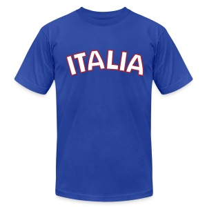 ITALIA logo AA T, Royal Blue - Men's T-Shirt by American Apparel
