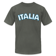 T-Shirts ~ Men's T-Shirt by American Apparel ~ ITALIA logo AA T, Asphalt