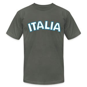 ITALIA logo AA T, Asphalt - Men's T-Shirt by American Apparel