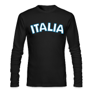 Long Sleeve Shirts ~ Men's Long Sleeve T-Shirt by Next Level ~ ITALIA logo AA Long Sleeve T, Black