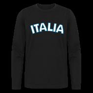 Long Sleeve Shirts ~ Men's Long Sleeve T-Shirt by American Apparel ~ ITALIA logo AA Long Sleeve T, Black