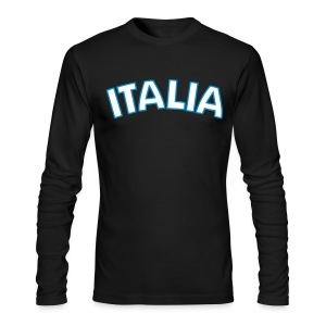 ITALIA logo AA Long Sleeve T, Black - Men's Long Sleeve T-Shirt by Next Level