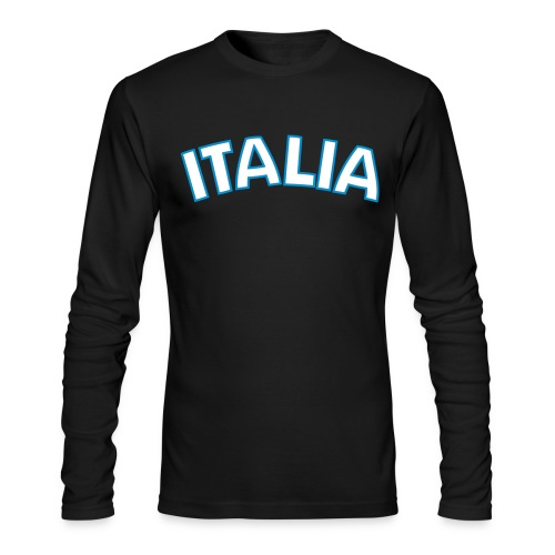 ITALIA logo AA Long Sleeve T, Black - Men's Long Sleeve T-Shirt by Next Level