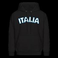 Hoodies ~ Men's Hoodie ~ ITALIA logo Hoodie, Black