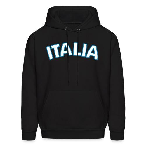 ITALIA logo Hoodie, Black - Men's Hoodie