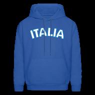 Hoodies ~ Men's Hoodie ~ ITALIA logo Hoodie, Royal Blue