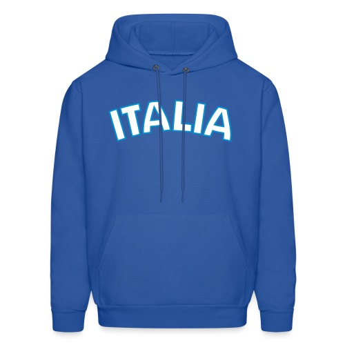ITALIA logo Hoodie, Royal Blue - Men's Hoodie
