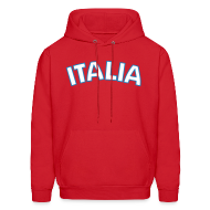 Hoodies ~ Men's Hoodie ~ ITALIA logo Hoodie, Red