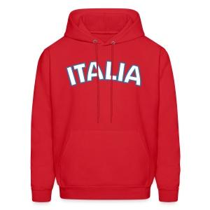ITALIA logo Hoodie, Red - Men's Hoodie